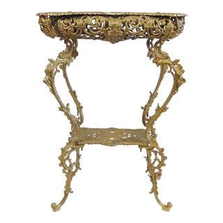 Vintage Ornate Gold Metal Table