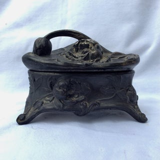 Early 20th Century Pewter Art Nouveau Jewelry Box Preview