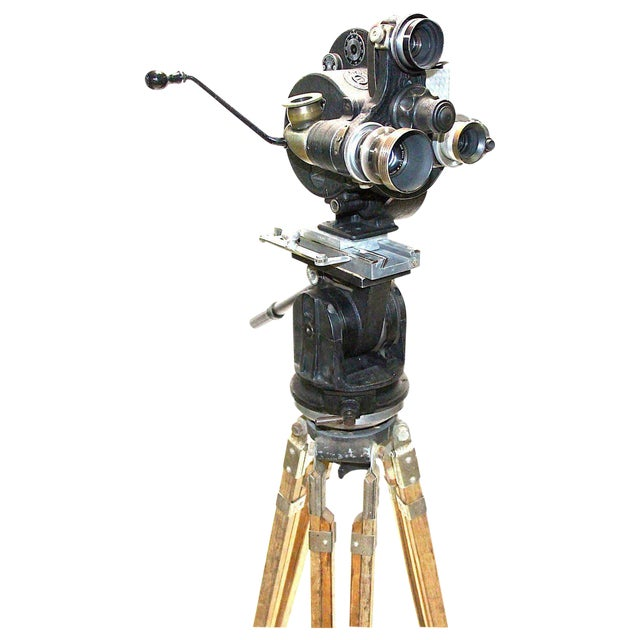 Celeb Owned Circa 1930 Movie Camera 35MM Bell and Howell As Sculpture For Sale