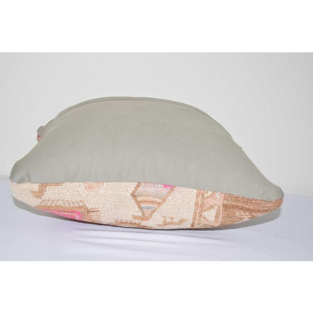 """Animal Soumac Cushion Cover 14"""" X 14"""" For Sale - Image 4 of 6"""
