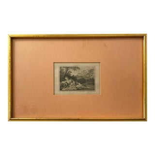 Antique Framed Engraving by F. John For Sale