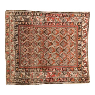 "Antique Hamadan Square Rug - 4'1"" x 4'9"""