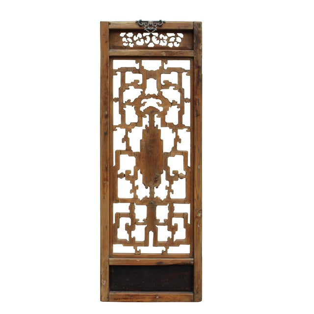 Asian Chinese Vintage Light Brown Relief Motif Wood Wall Hanging Art For Sale - Image 3 of 10