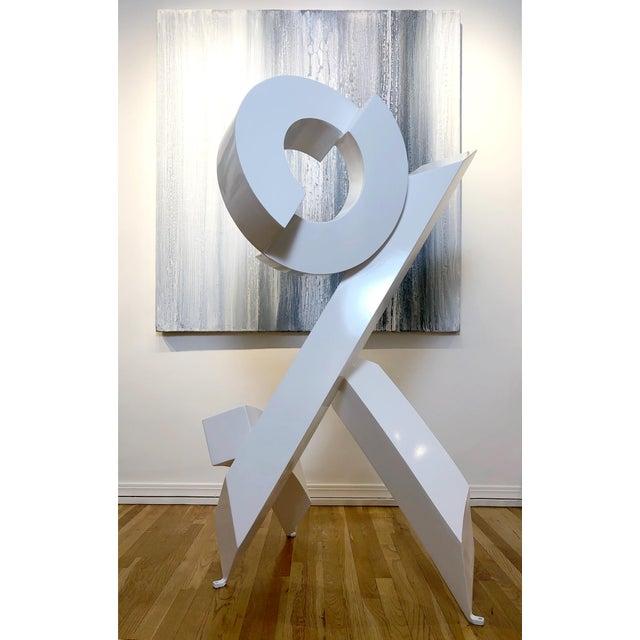 "Rob Lorenson Rob Lorenson, ""White Rhythm #4"" 2019 For Sale - Image 4 of 4"