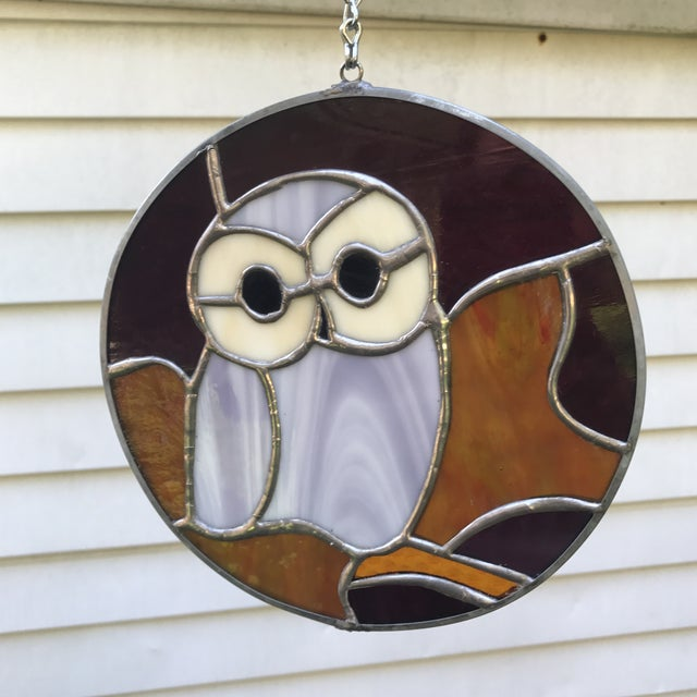 Hanging Stained Glass Owl For Sale In Charlotte - Image 6 of 8
