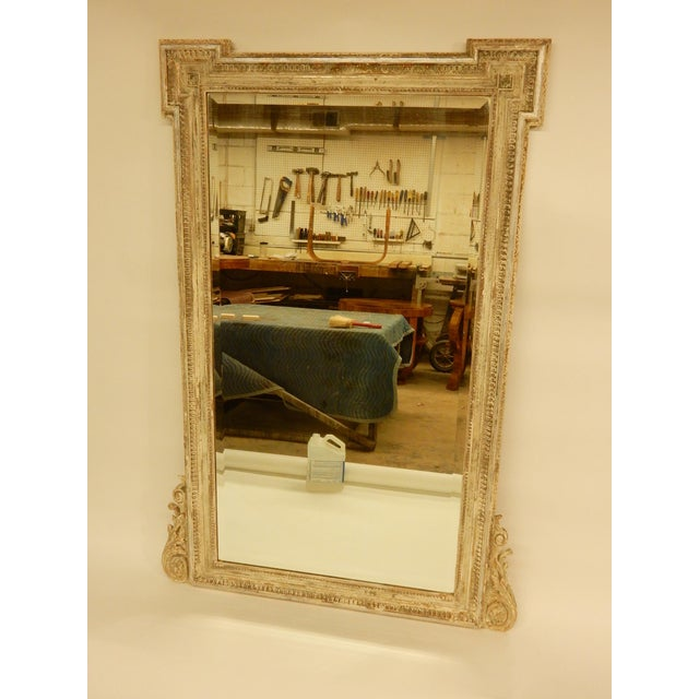 Gold 19th C Louis XVI Mirror For Sale - Image 8 of 8