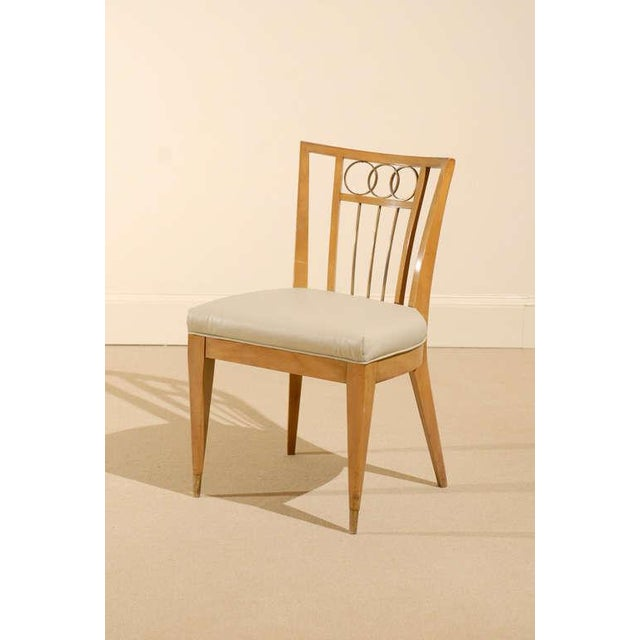 Set of Four (4) Chairs in the Style of Michael Taylor For Sale - Image 9 of 11
