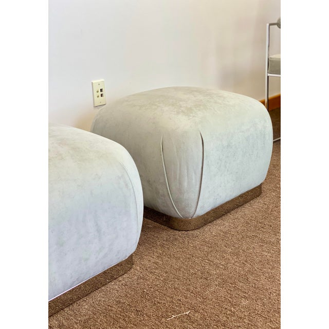 1980s 1980s Weiman Reupholstered Souffle Poufs - a Pair For Sale - Image 5 of 8