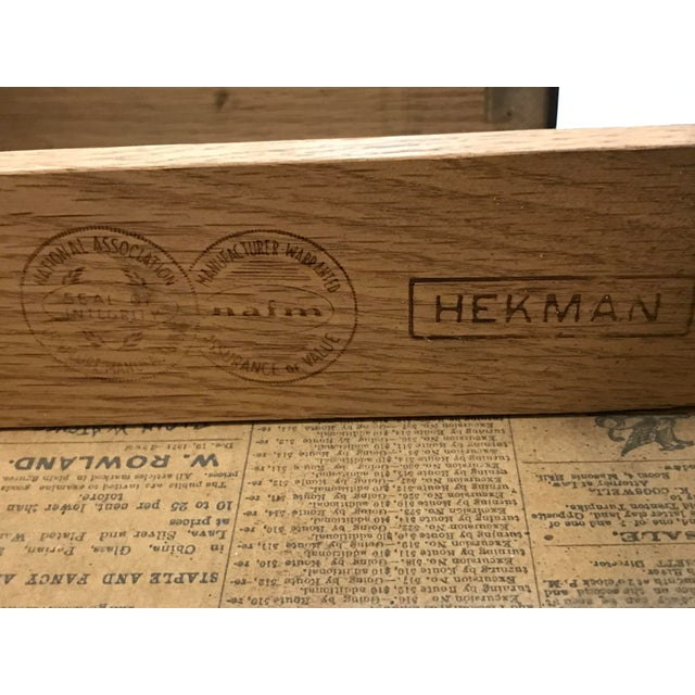 Hekman Walnut Side Tables - Pair For Sale - Image 6 of 13