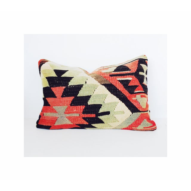 Turkish Kilim Lumbar Pillow - Image 2 of 6