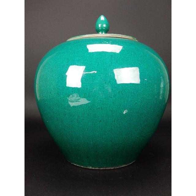 Chinese Crackle Glazed Ginger Jar - Image 8 of 11