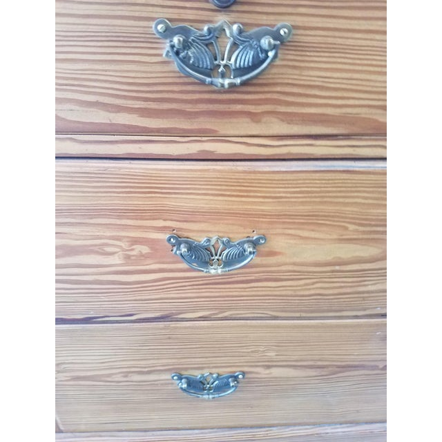 United Kingdom Pitch Pine Chest of Drawers For Sale In Dallas - Image 6 of 13