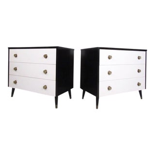 Vintage Modern Italian Style Dressers - A Pair For Sale
