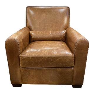 New Contemporary Lewiston Leather Chair For Sale