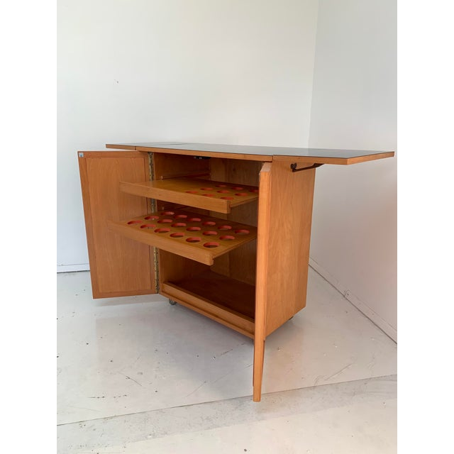 1960s Vintage Mid Century Bar Cart For Sale In Los Angeles - Image 6 of 13