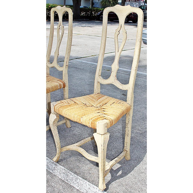 1960s Vintage Painted Dining Chairs- Set of 8 For Sale - Image 9 of 13