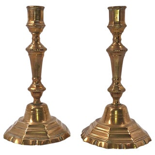 Pair of French Louis XIV Bronze Candlesticks For Sale