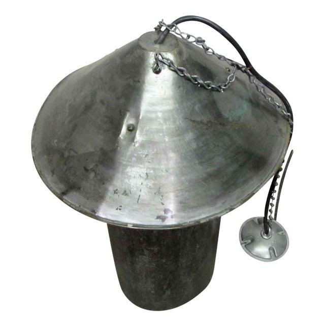 Industrial Steel Oversized Pendant Light For Sale