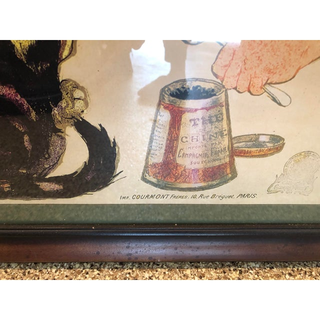 Vintage French Chocolate Advertisement Custom Framed and Matted Print With Sturdy Hanging Wire For Sale In Los Angeles - Image 6 of 11