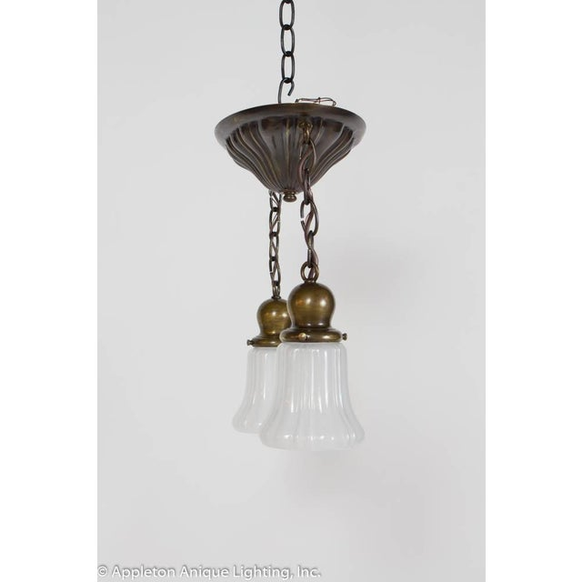 Sheffield Restored Two Light Sheffield Pendants For Sale - Image 4 of 6