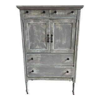 Antique Gray Cupboard/Hutch For Sale