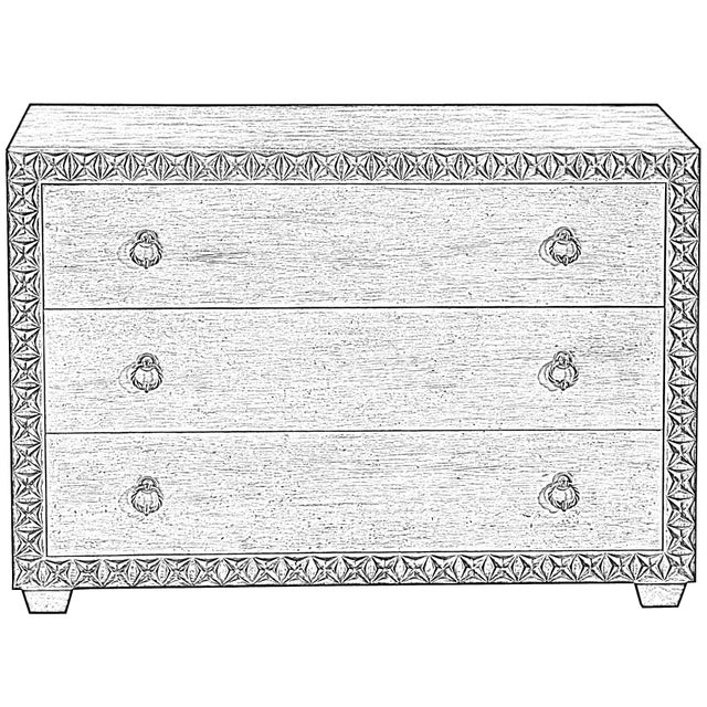 Sarreid Mesa Chest, Working White For Sale - Image 12 of 13
