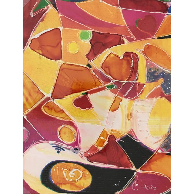"""Abstract Abstract Modern """"Vitrales"""" – Signed F, 2020 For Sale - Image 3 of 3"""