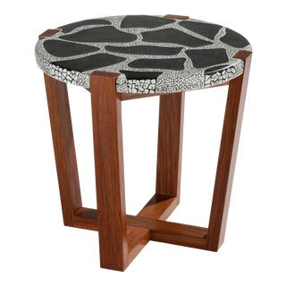Ostrich Egg Shell Mosaic Side Table For Sale