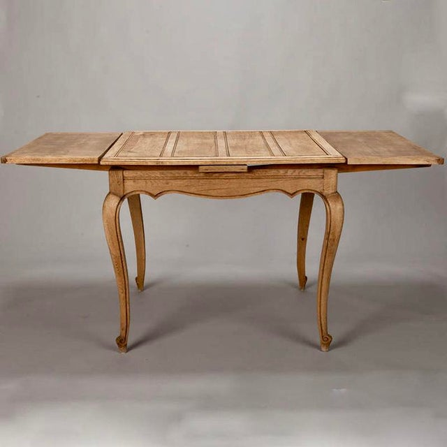French Bleached Oak Table with Self Storing Leaves - Image 6 of 9