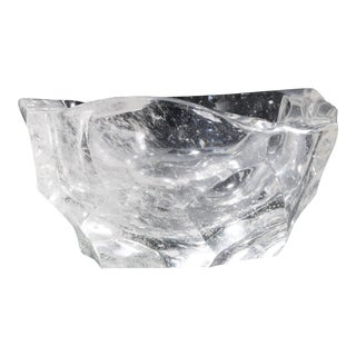 Bamboo Shaven Design Bowl - Crystal For Sale