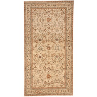 """Hand Knotted Pakistan Gallery Rug - 6'2""""x 12' For Sale"""