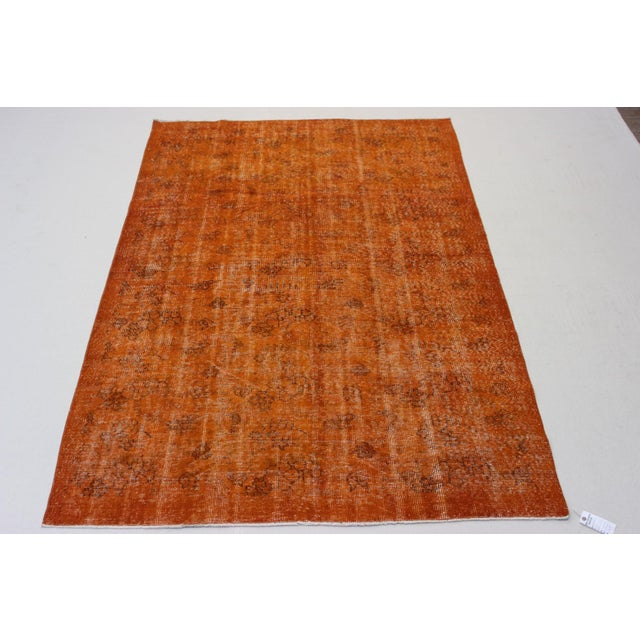 Vintage Overdyed Turkish Rug - 5′9″ × 9′ - Image 2 of 6