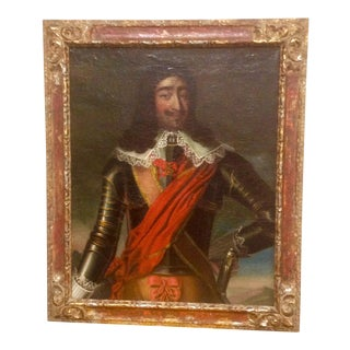 17th Century Portrait of a Man in Armor For Sale