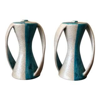A Pair of Ceramic Lamp Bases by G.Gambone