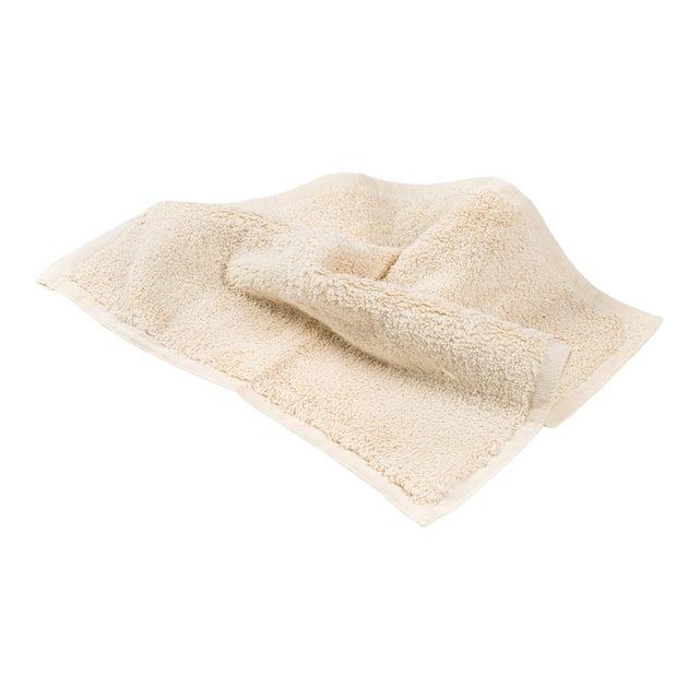 Plush & Bare Handmade Organic Cotton Face Cloth in Ecru For Sale
