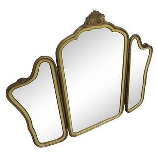 Art Deco Tri Fold Mirror
