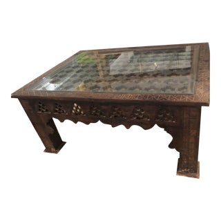Moroccan Cross Pattern Coffee Table For Sale