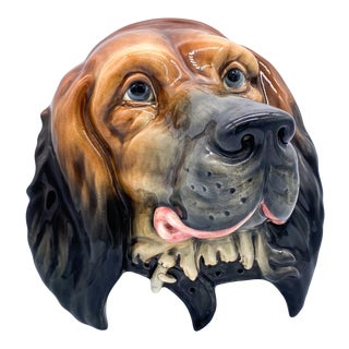 20th Century English Beswick Dog Face Ceramic Wall Hanging For Sale