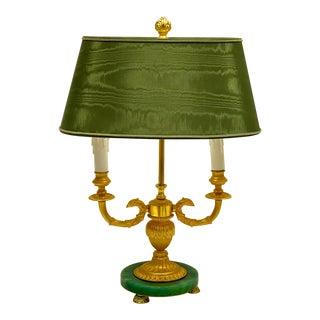 Neo-Classical Style Bronze Dore Bouillotte Lamp For Sale