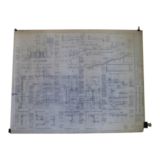 NYC Saarinen 1962 Lincoln Center Blueprint - Image 1 of 5