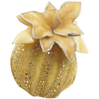 Cilea Paris Fantasy Pumpkin Resin Talosel Pin Brooch For Sale