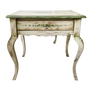 1950s French Country Habersham Handpainted Plantation Accent Table For Sale