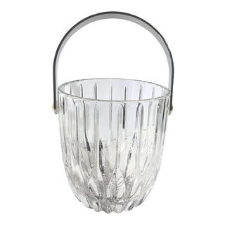 Vintage Contemporary Cut Crystal Mikasa Traditional Ice Bucket / Container For Sale