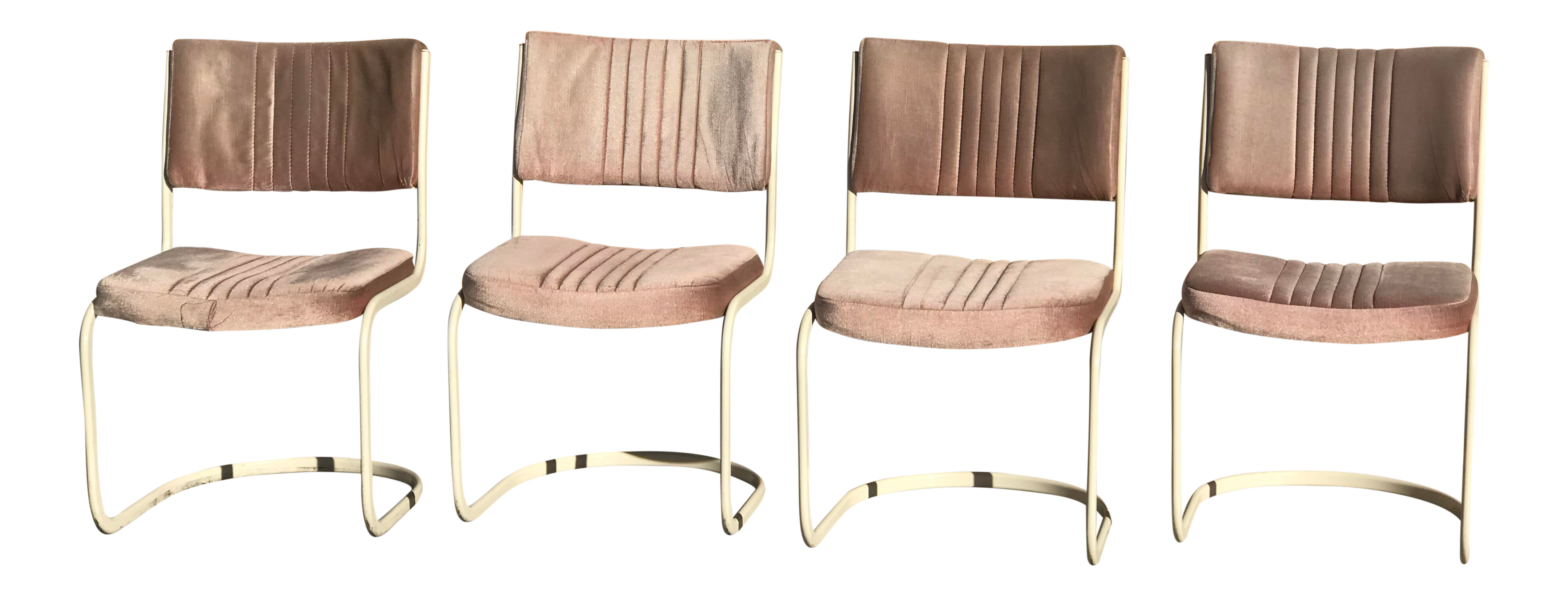 Genial 1960s Vintage Marcel Breuer By Knoll Pink Dining Chairs  4 Pieces For Sale