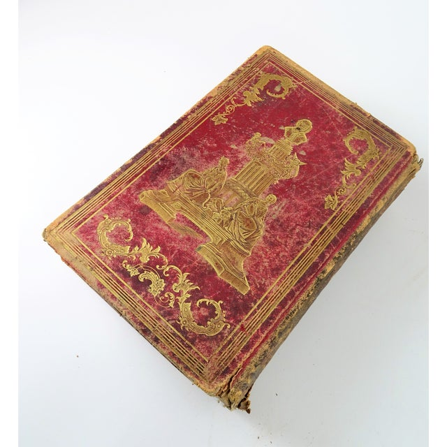 Animal Skin Antique Leather Bound Shakspeare Book For Sale - Image 7 of 10