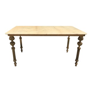 French Maison Jansen Bronze & Onyx Top Coffee Table 1940s For Sale