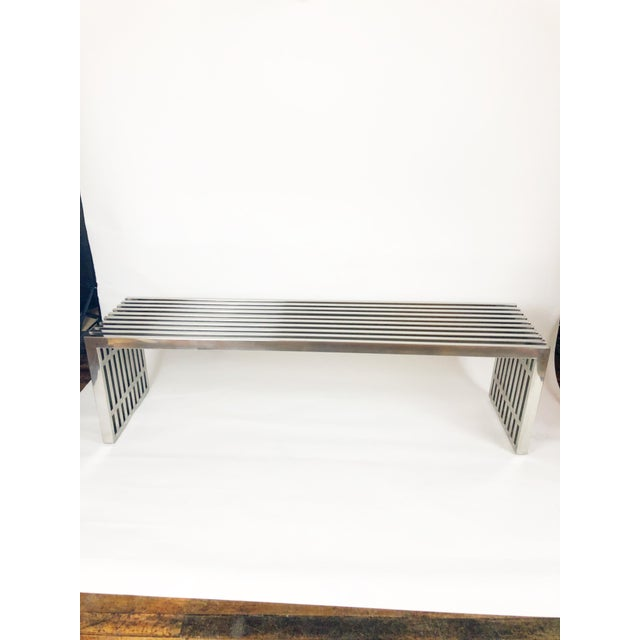 1960s Mid-Century Chrome Bench by Milo Baughman For Sale - Image 5 of 5