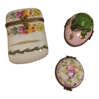 French Limoge Boxes - Set of 3 For Sale