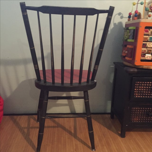 Antique Painted Red & Black Children's Chair - Image 5 of 5