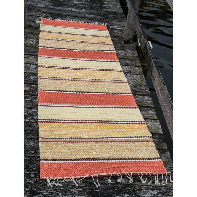 Cotton Swedish Handwoven Runner- 2′5″ × 6′11″ For Sale - Image 7 of 8